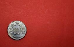 Pièce de monnaie thaïlandaise, année internationale de la jeunesse de pièce de monnaie commémorative de deux bahts Image libre de droits