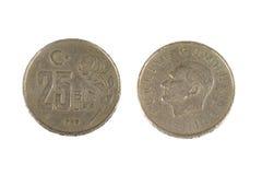 Pièce de monnaie turque Photographie stock libre de droits