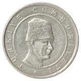 Pièce de monnaie turque Photos stock
