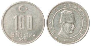Pièce de monnaie turque Image stock