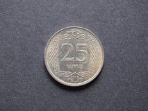 Pièce de monnaie turque Images libres de droits
