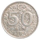 Pièce de monnaie turque de Lire de poubelle Photo libre de droits
