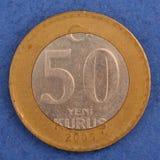 Pièce de monnaie turque en métal Photo stock