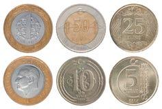 Pièce de monnaie turque réglée Image stock