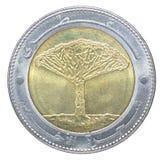Pièce de monnaie yéménite de rial Images libres de droits