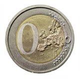 Pièce de monnaie zéro Images libres de droits
