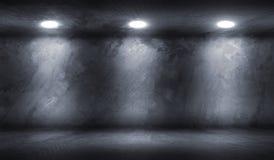 Pièce de mur en béton avec le garage vide de plancher photographie stock libre de droits