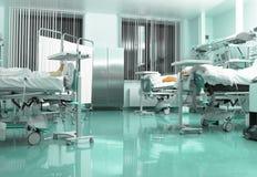 Pièce de rétablissement moderne dans l'hôpital photographie stock