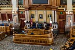 Pièce de sénat de capitol d'état de Des Moines Iowa Photographie stock libre de droits