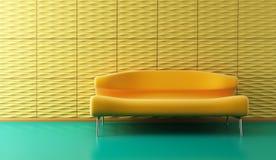 pièce de salon de Sauter-art avec le divan Photo stock