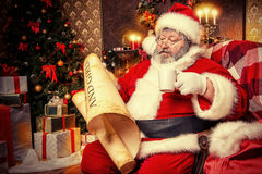 Pièce de Santa Photo stock
