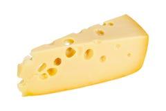 Pièce de secteur de fromage jaune photographie stock