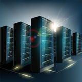Pièce de serveur dans le datacenter Technologie de réseau et d'Internet Photo libre de droits
