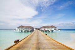 Pièce de suite en Maldives Photos stock