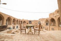 Pièce de thé dans le vieux bazar de Kashan Image libre de droits