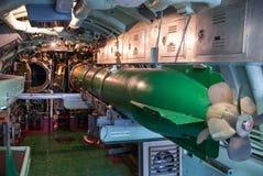 Pièce de torpille submersible de vintage Photos stock
