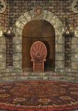 pièce de trône du rendu 3D Photos stock