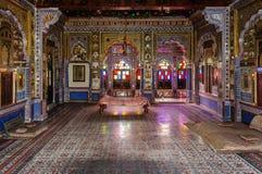 Pièce de trône et cour royale de roi de Marwar Photographie stock