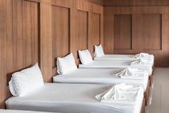Pièce de traitement de massage de station thermale Image libre de droits