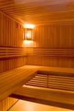 Pièce de transpiration dans le sauna images stock