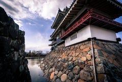 Pièce de visionnement de lune au château de Matsumoto photographie stock