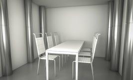 Pièce de wagon-restaurant de Domestic.Clean, chaises et table blanche au-dessus de PS propre Images stock