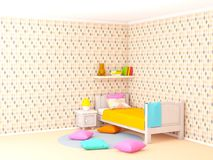 Pièce du ` s d'enfants avec des losanges illustration stock