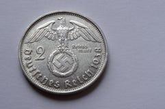 Pièce en argent allemande Photographie stock libre de droits