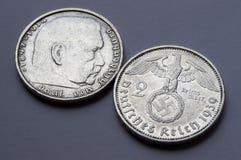 Pièce en argent allemande Image libre de droits