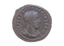 Pièce en argent romaine Images libres de droits