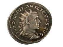 Pièce en argent romaine antique Photos stock