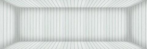pièce en bois blanche moderne vide horizontale avec l'ombre pour le backgrou Image stock