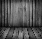 Pièce en bois noire et blanche Photos libres de droits