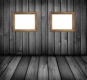 Pièce en bois noire et blanche Photo stock