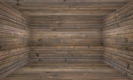 Pièce en bois vide Photo stock