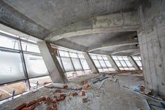 Pièce en construction sur le nouveau terminal Image libre de droits