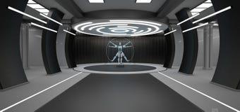 Pièce futuriste de robot d'homme de Vitruvian illustration libre de droits