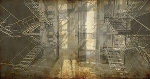 Pièce. Intérieur industriel moderne, escaliers, l'espace propre dans l'industr Photo libre de droits