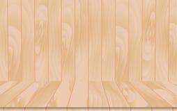 Pièce intérieure en bois de vecteur Images libres de droits