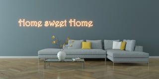 Pièce lumineuse moderne de conception intérieure avec le sofa gris