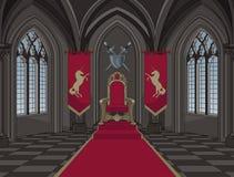 Pièce médiévale de trône de château illustration de vecteur