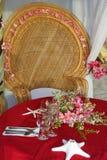 Pièce maîtresse de Tableau. décoration de mariage Photographie stock libre de droits