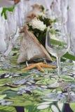 Pièce maîtresse de Tableau. table de mariage Image stock