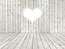 Pièce minable blanche avec le coeur Photo stock