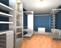 Pièce moderne intérieure vide pour la promenade dans le cabinet Photos stock