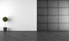 Pièce moderne noire et blanche Photo libre de droits