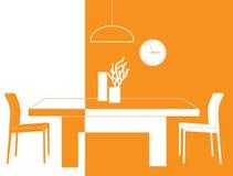 Pièce orange Photo stock