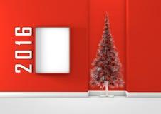 Pièce rouge de Noël Photos stock