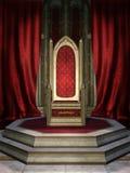 Pièce rouge de trône Images stock