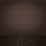 Pièce sombre de brique illustration de vecteur